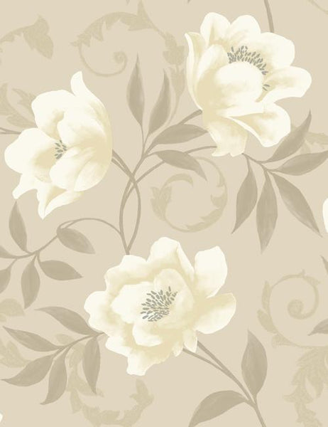 10580 Vintage is a beautiful Beige Floral Wallpaper from Holden Decor
