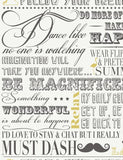 11179 Follow Your Dreams is a beautiful Grey / Yellow Collage Wallpaper from Holden Decor