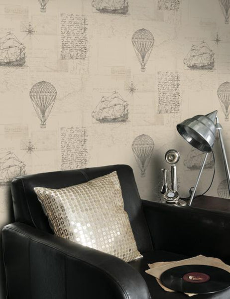 11300 Odyssey is a beautiful Neutral Conversational Wallpaper from Holden Decor