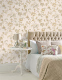 11420 Esme is a beautiful Gold / Neutral Floral Wallpaper from Holden Decor
