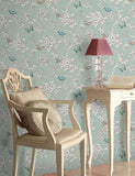 11432 Tahlia is a beautiful Teal Butterfly Wallpaper from Holden Decor