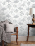 11471 Glitter Woodland is a beautiful Silver Tree Wallpaper from Holden Decor