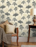 11472 Glitter Woodland is a beautiful Grey / Beige Tree Wallpaper from Holden Decor