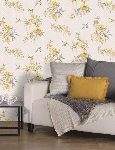 11480 Amaya is a beautiful Grey Floral Wallpaper from Holden Decor