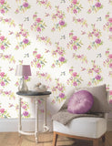 11482 Amaya is a beautiful Pink / Green Floral Wallpaper from Holden Decor