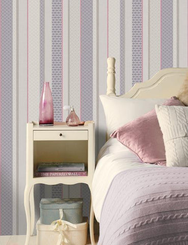 11491 Amaya Stripe is a beautiful Pink / Purple Geometric Wallpaper from Holden Decor