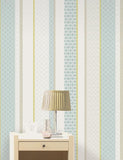 11493 Amaya Stripe is a beautiful Teal / Green Geometric Wallpaper from Holden Decor