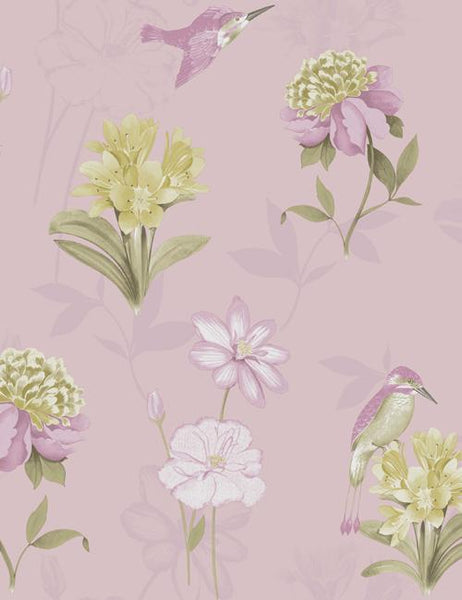 11560 Kingfisher is a beautiful Pink Floral Wallpaper from Holden Decor