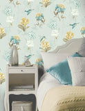 11561 Kingfisher is a beautiful Teal Floral Wallpaper from Holden Decor