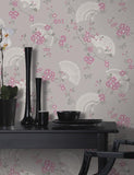 11571 Glitter Oriental Fan is a beautiful Pink Trail Wallpaper from Holden Decor