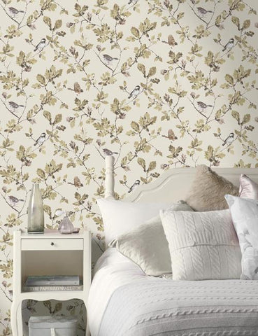11600 Acorn Trail is a beautiful Cream / Brown Trail Wallpaper from Holden Decor