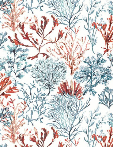 11710 Coral is a beautiful Red / Blue Nature Wallpaper from Holden Decor