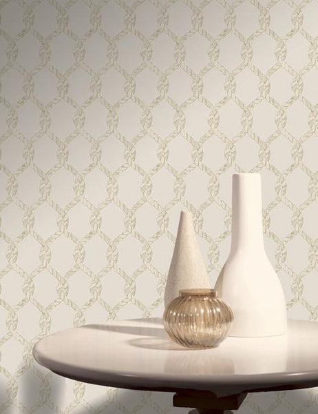 11730 Rope is a beautiful Cream Conversational Wallpaper from Holden Decor