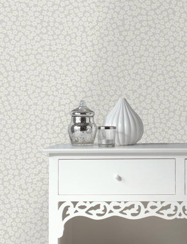 11911 Daisy is a beautiful Grey Floral Wallpaper from Holden Decor