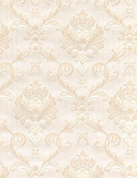 20706 Emily is a beautiful Beige Damask Wallpaper from Holden Decor