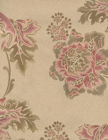33965 Florentina is a beautiful Red / Beige Floral Vinyl Wallpaper from Holden Decor