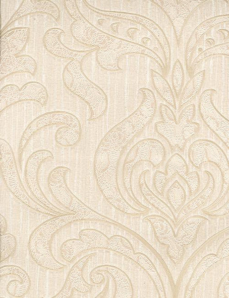 33995 Merletto is a beautiful Gold / Beige Damask Vinyl Wallpaper from Holden Decor
