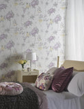 35020 Marissa is a beautiful Purple / Neutral Floral Vinyl Wallpaper from Holden Decor