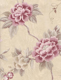 35022 Marissa is a beautiful Red / Cream Floral Vinyl Wallpaper from Holden Decor