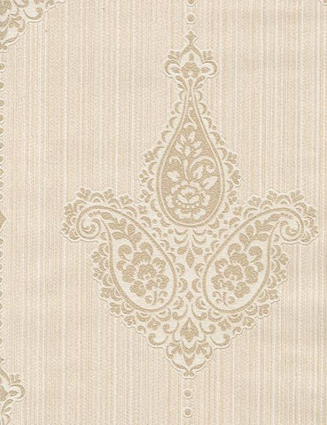 35060 Sabrina is a beautiful Cream Motif Vinyl Wallpaper from Holden Decor