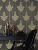 35062 Sabrina is a beautiful Grey / Neutral Motif Vinyl Wallpaper from Holden Decor