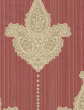 35063 Sabrina is a beautiful Red / Neutral Motif Vinyl Wallpaper from Holden Decor