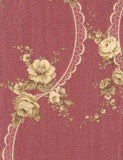35115 Rachele is a beautiful Red / Gold Floral Vinyl Wallpaper from Holden Decor