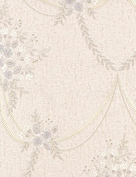 35130 Ginevra is a beautiful White / Cream Floral Vinyl Wallpaper from Holden Decor