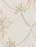 35133 Ginevra is a beautiful Gold / White Floral Vinyl Wallpaper from Holden Decor