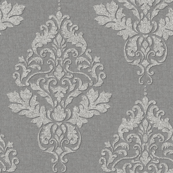 Hadrian Damask Dark Grey
