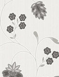75610 Rico is a beautiful Black / White Floral Blown Wallpaper from Holden Decor