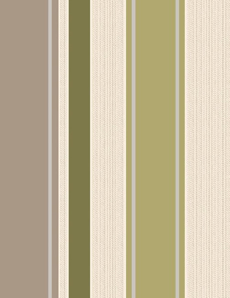 75622 Rico Stripe is a beautiful Green / Cream Stripe Blown Wallpaper from Holden Decor