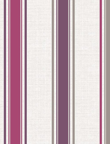 75661 Dominica Stripe is a beautiful Purple / White Stripe Blown Wallpaper from Holden Decor