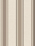 75663 Dominica Stripe is a beautiful Brown / Cream Stripe Blown Wallpaper from Holden Decor