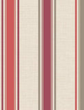 75664 Dominica Stripe is a beautiful Red / Neutral Stripe Blown Wallpaper from Holden Decor