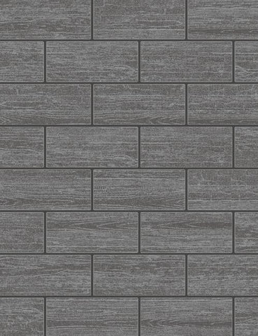 89216 Wood Tile is a beautiful Black Wood Effect Blown Wallpaper from Holden Decor