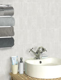 89281 Igneous Tile is a beautiful White Tile Effect Blown Wallpaper from Holden Decor