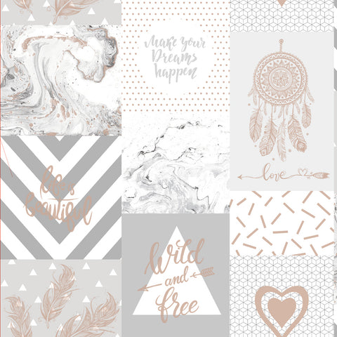 Wild and Free Grey/Rosegold - 90211