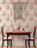 97790 Montgomerie is a beautiful Red Floral Wallpaper from Holden Decor