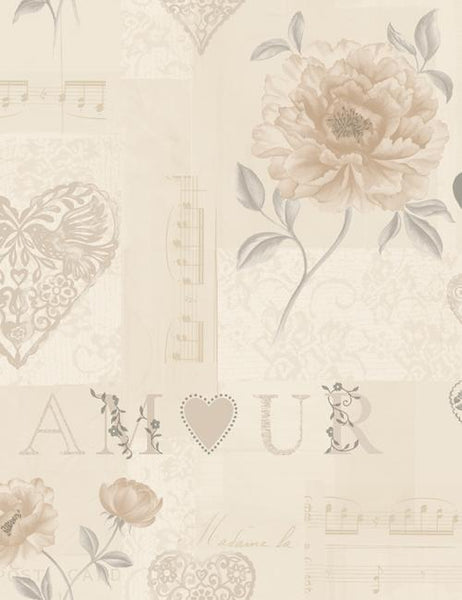 97817 Amour is a beautiful Neutral Collage Wallpaper from Holden Decor