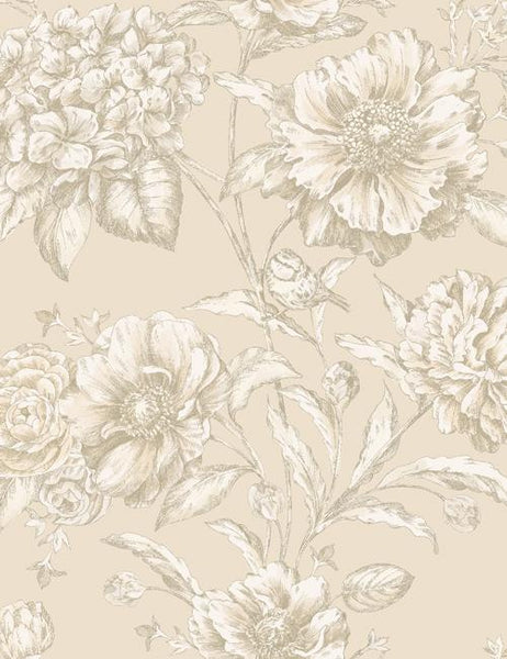 97830 Cordelia is a beautiful Neutral Floral Wallpaper from Holden Decor