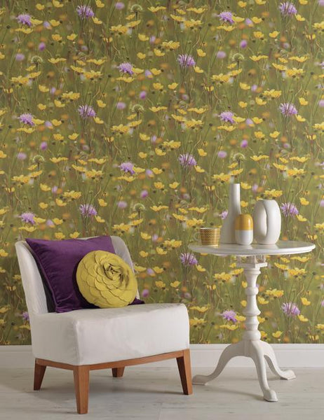 97950 Meadow is a beautiful Green Photographic Wallpaper from Holden Decor