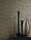 97961 Mayim Texture is a beautiful Black / Gold Geometric Wallpaper from Holden Decor