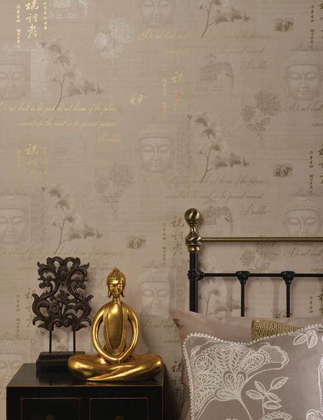 97980 Tranquility is a beautiful Brown Collage Wallpaper from Holden Decor