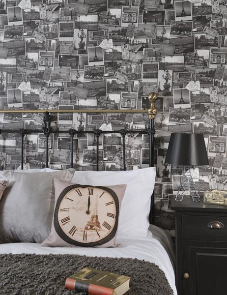 98040 Memories of Paris is a beautiful Black / White Photographic Wallpaper from Holden Decor