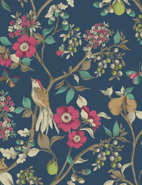 98100 Damsen is a beautiful Blue Floral Wallpaper from Holden Decor
