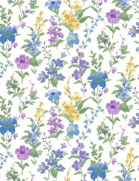 98130 Daphne is a beautiful Blue / Multi Floral Wallpaper from Holden Decor