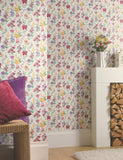 98131 Daphne is a beautiful Pink / Cream Floral Wallpaper from Holden Decor
