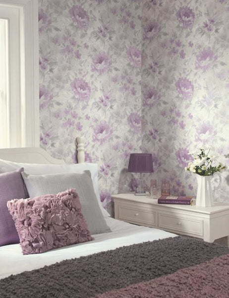 98140 Olina is a beautiful Pink Floral Wallpaper from Holden Decor