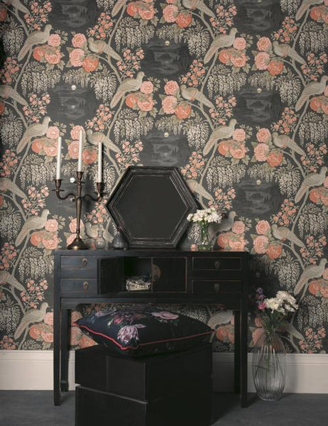 98170 Sekiya is a beautiful Black Bird Wallpaper from Holden Decor